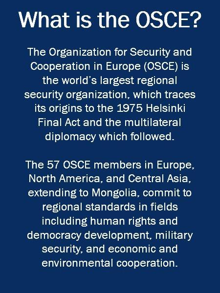 OSCE Election Observation | CSCE