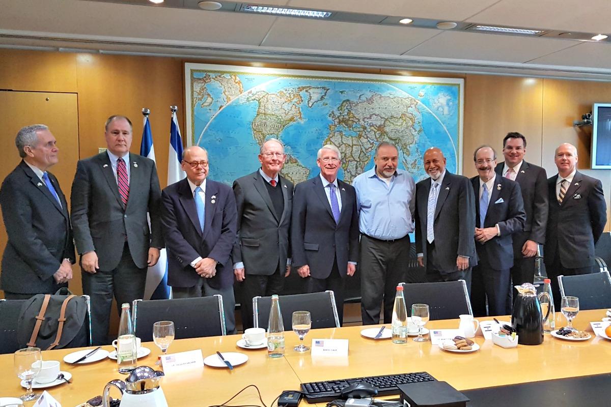 Members of CODEL Wicker meet with Israeli Defense Minister Avigdor Lieberman