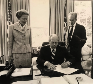 Rep. Millicent Fenwick, President Gerald Ford, and Sen. Clifford Case