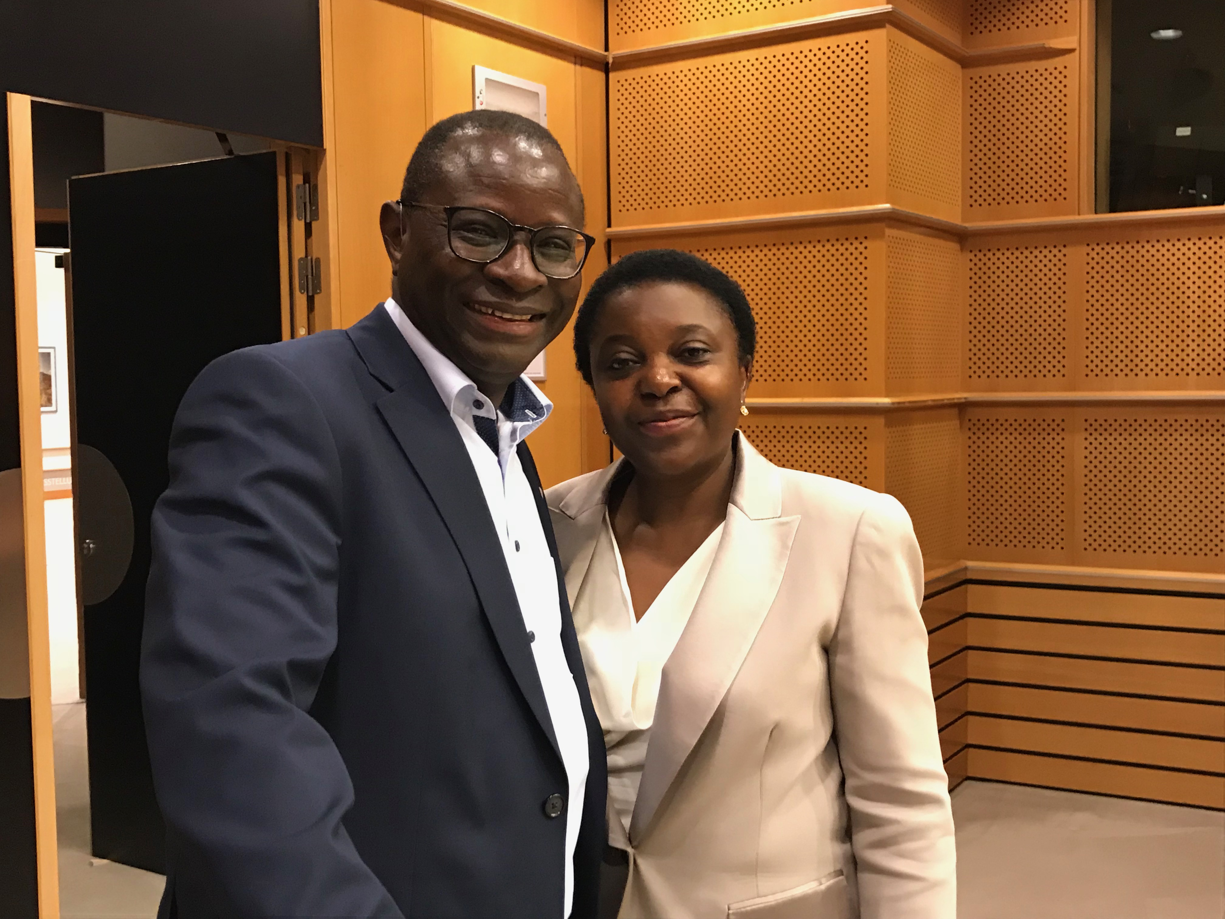 German MP Karamba Diaby and MEP Cecile Kyenge