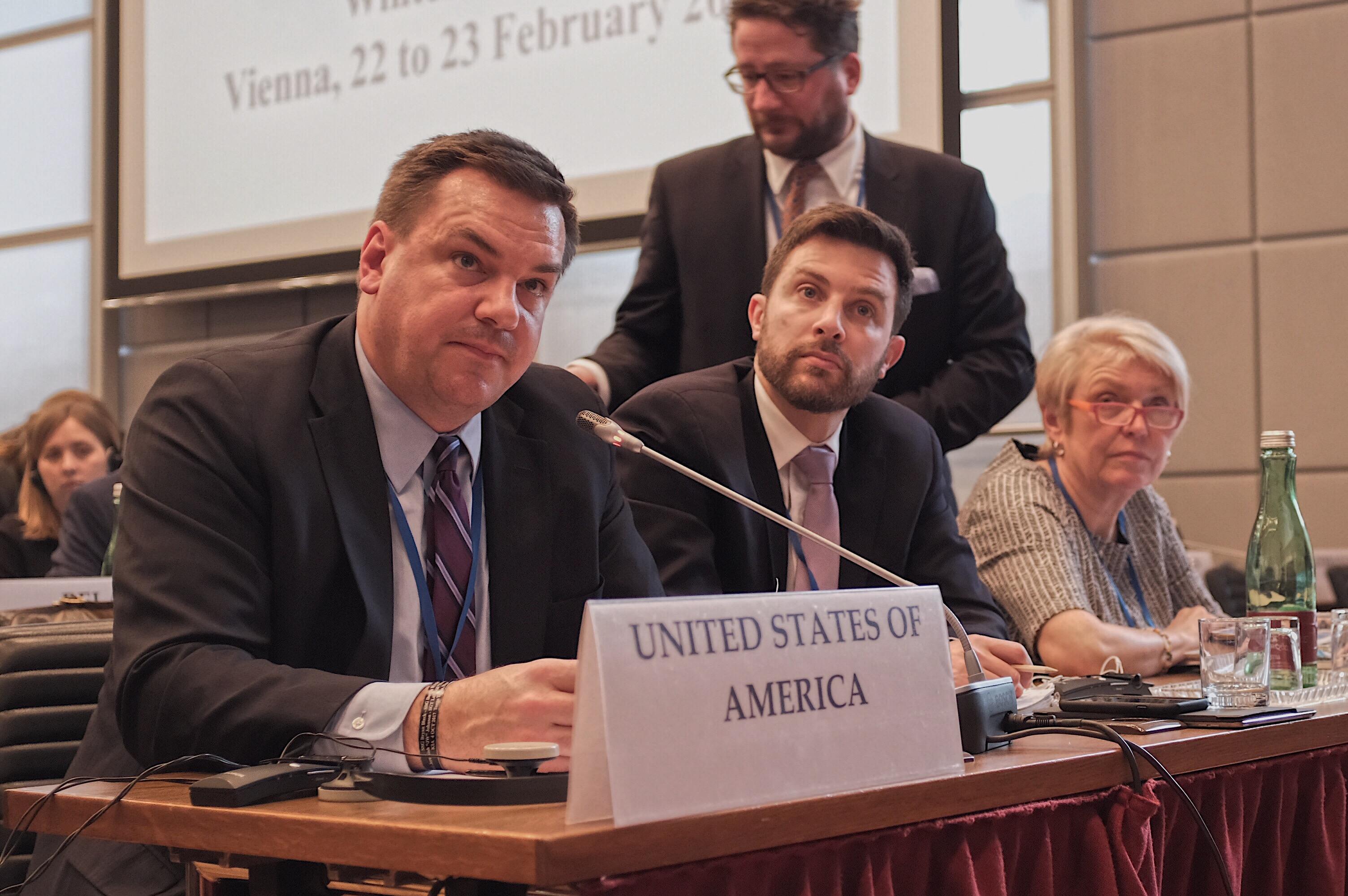 Helsinki Commissioner Rep. Hudson at OSCE PA 2018 Winter Meeting