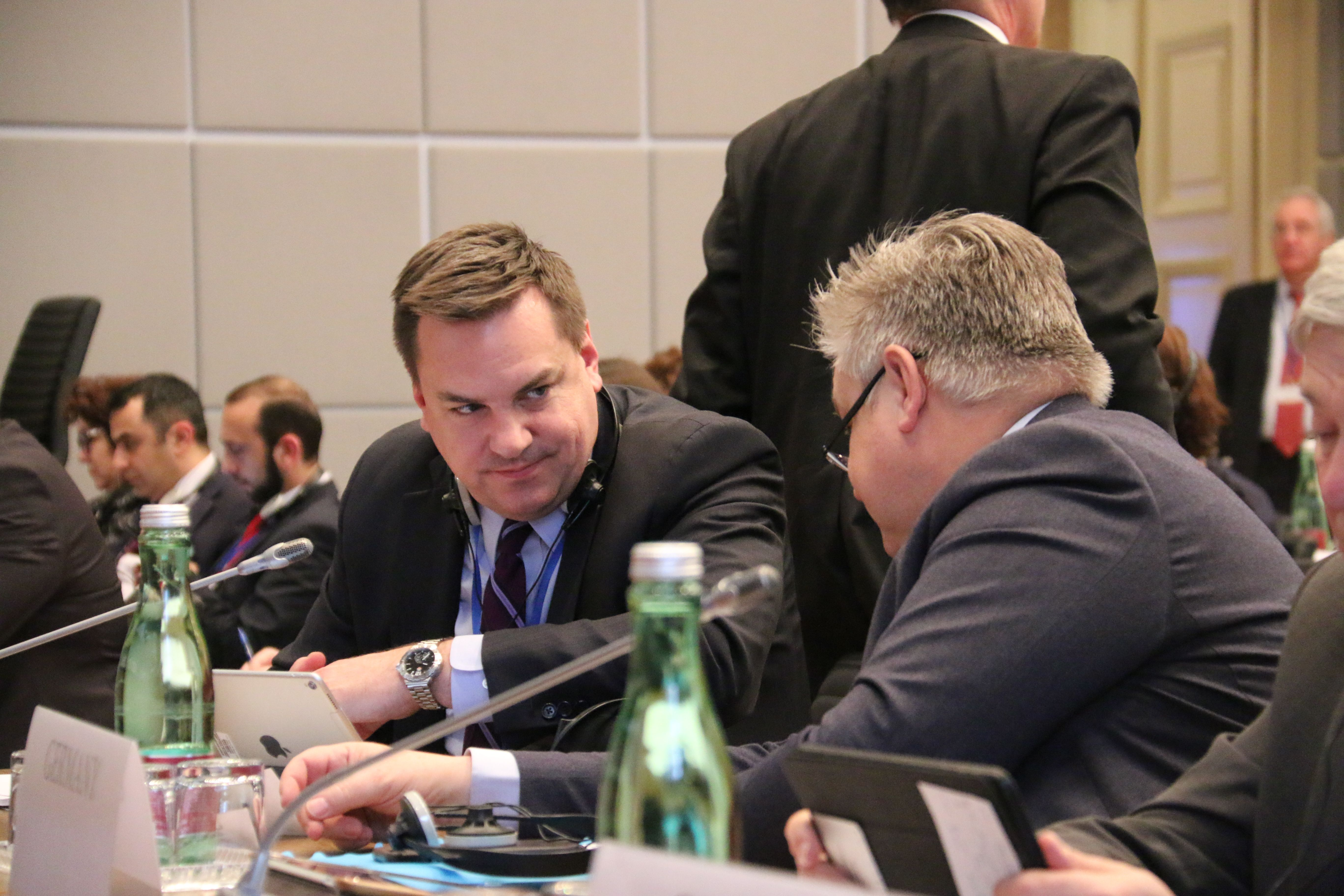Helsinki Commissioner Rep. Hudson at 2018 OSCE PA Winter Meeting | Credit OSCE PA