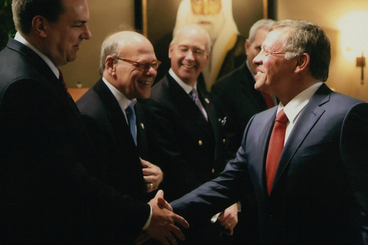 Members of CODEL Wicker meet with King Abdullah II