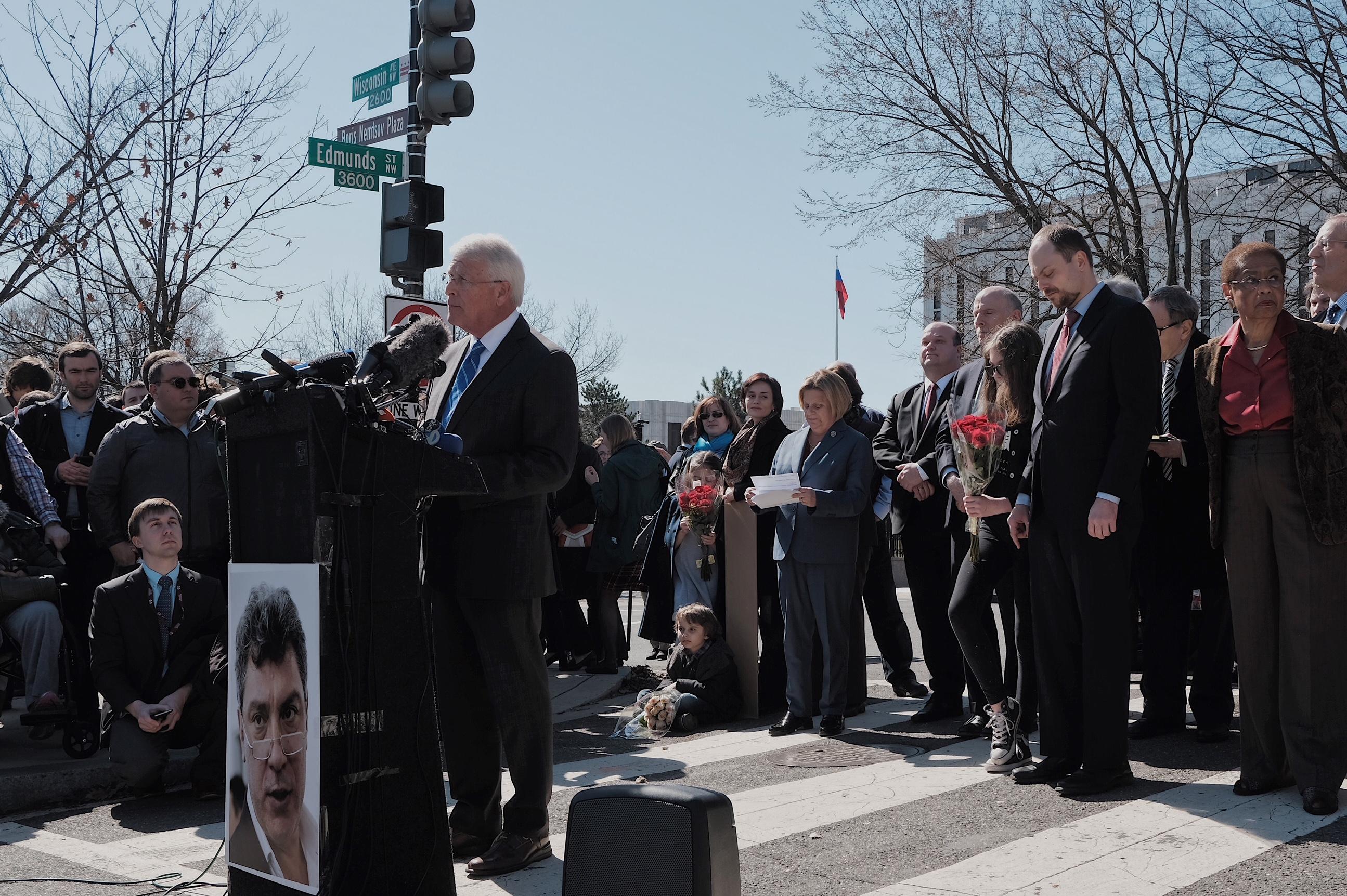 Senator Roger Wicker   Nemtsov Plaza Dedication Ceremony   February 27, 2018