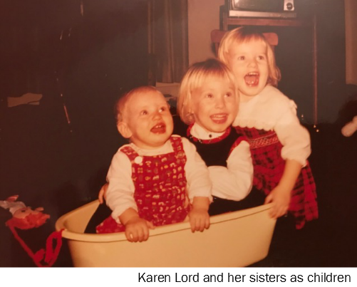 Karen Lord and her sisters as children